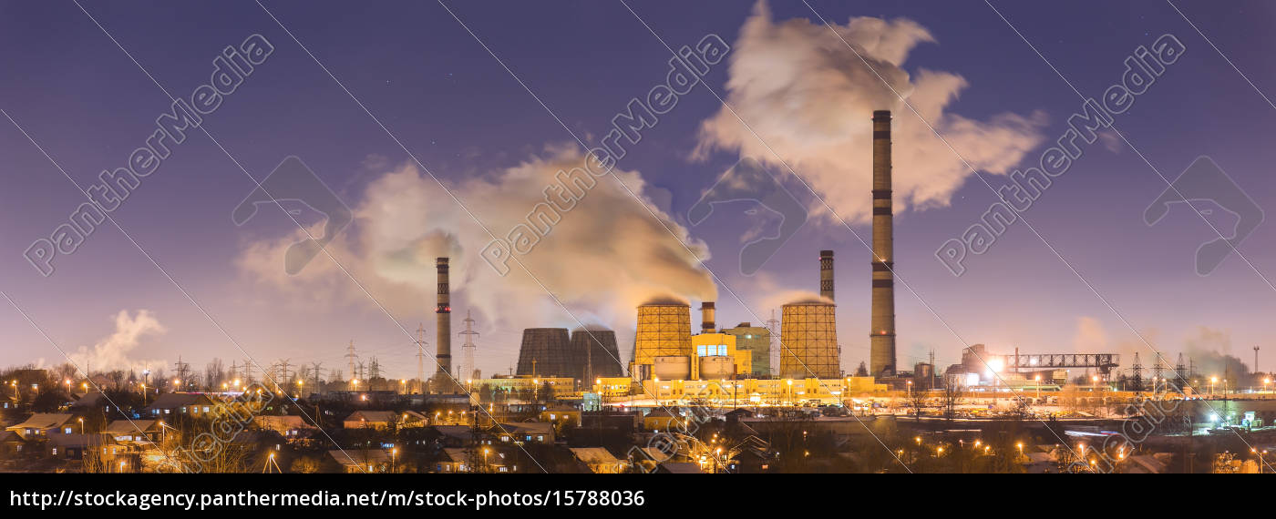 power, plant, in, the, night - 15788036