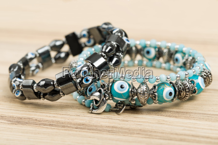 woman, bracelet, on, wooden, background - 15788620