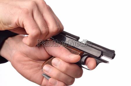 hands, with, a, gun - 15789910