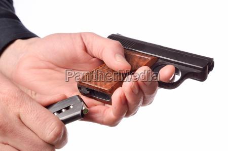 loading, a, handgun - 15789912