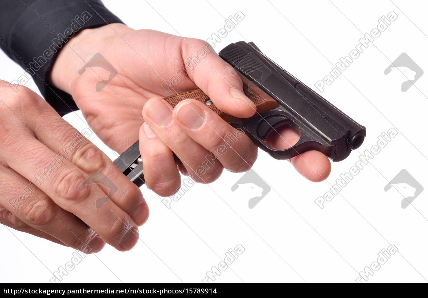 loading, a, handgun - 15789914