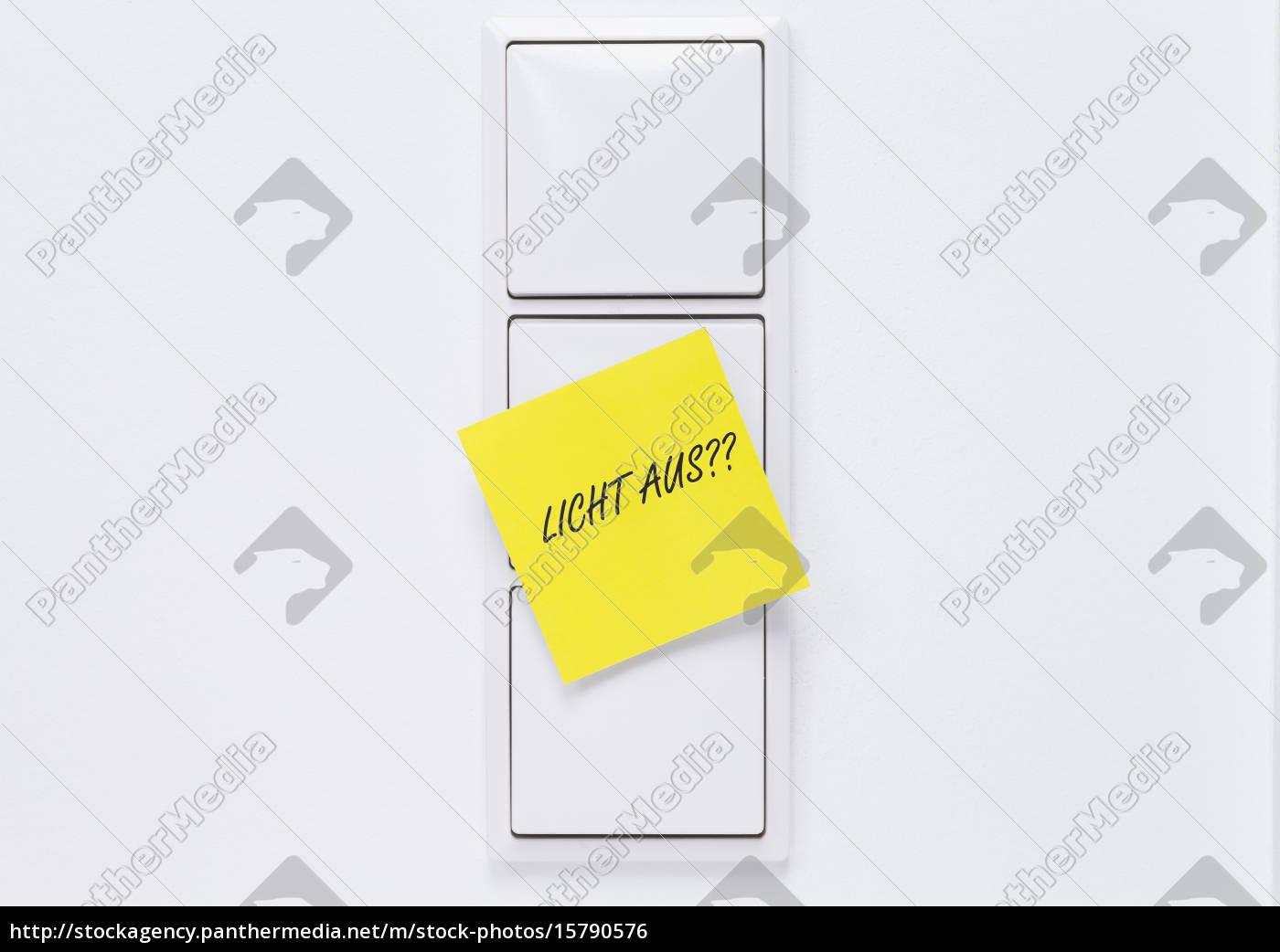 lichtschalter, mit, hinweis - 15790576