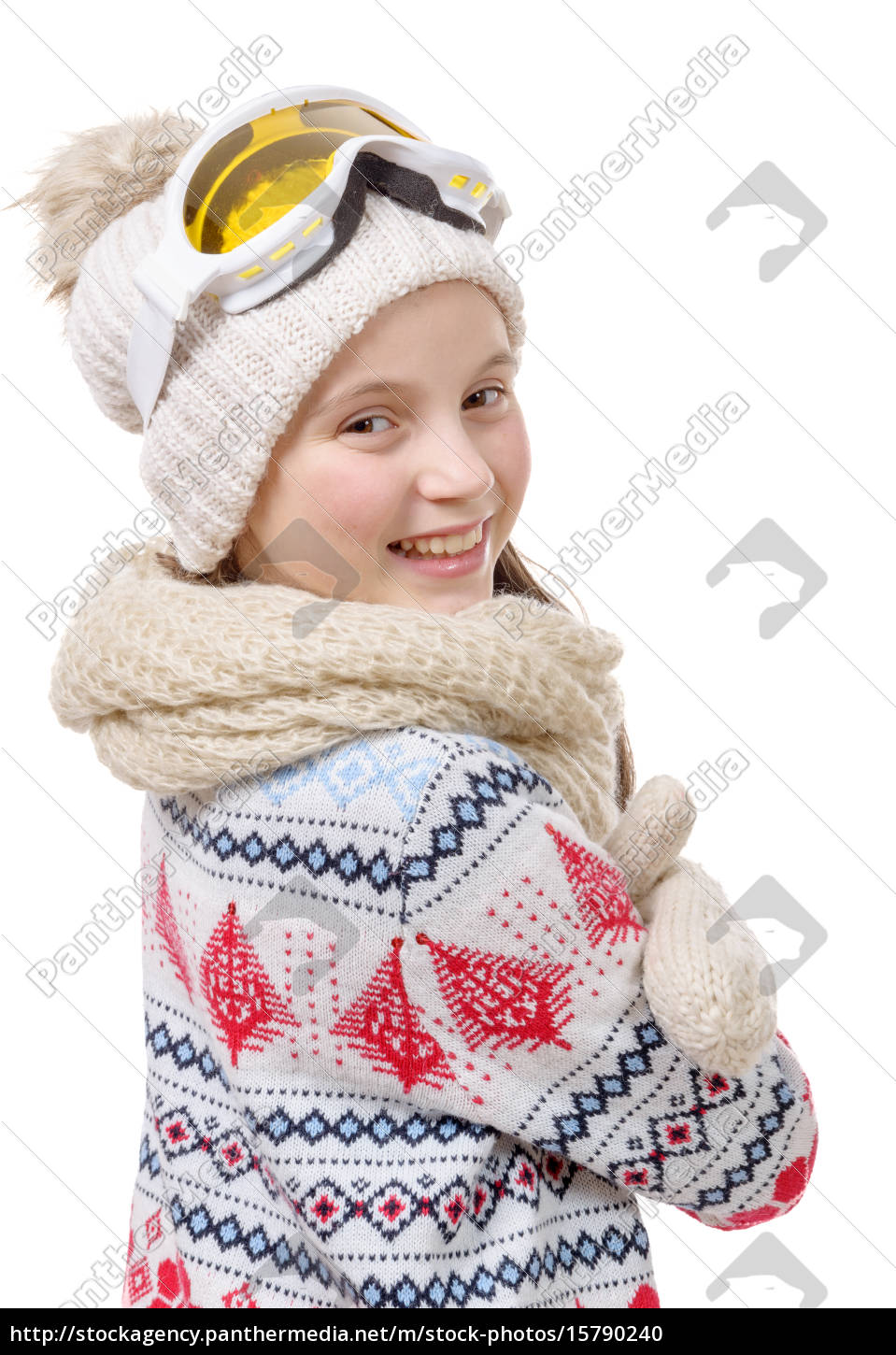 portrait, of, a, happy, young, girl - 15790240