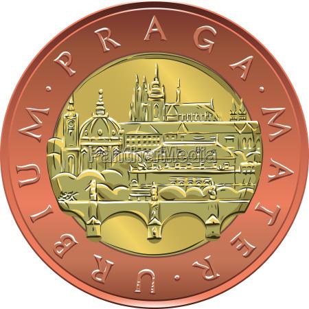vector, gold, money, fifty, czech, crones - 15790842