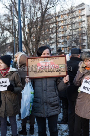 cracow the demonstration of
