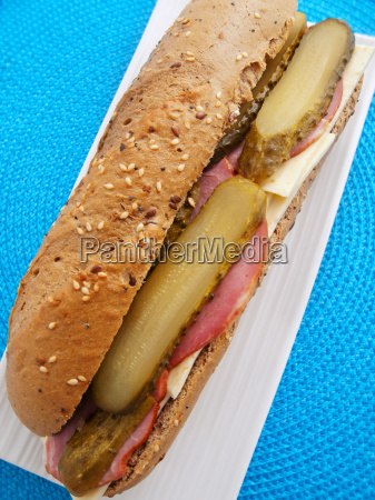 sandwich, with, cheese, , ham, and, cucumber, sandwich - 15791503