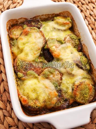 zucchini, casserole, with, mozzarela, and, basil, zucchini - 15791485