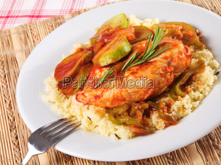 chicken, with, vegetables, and, couscous, chicken, with - 15792959