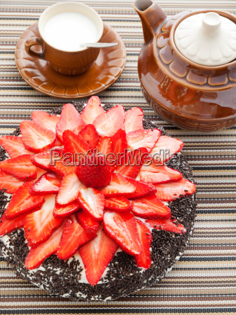 chocolate, cake, with, strawberries, chocolate, cake, with - 15792851