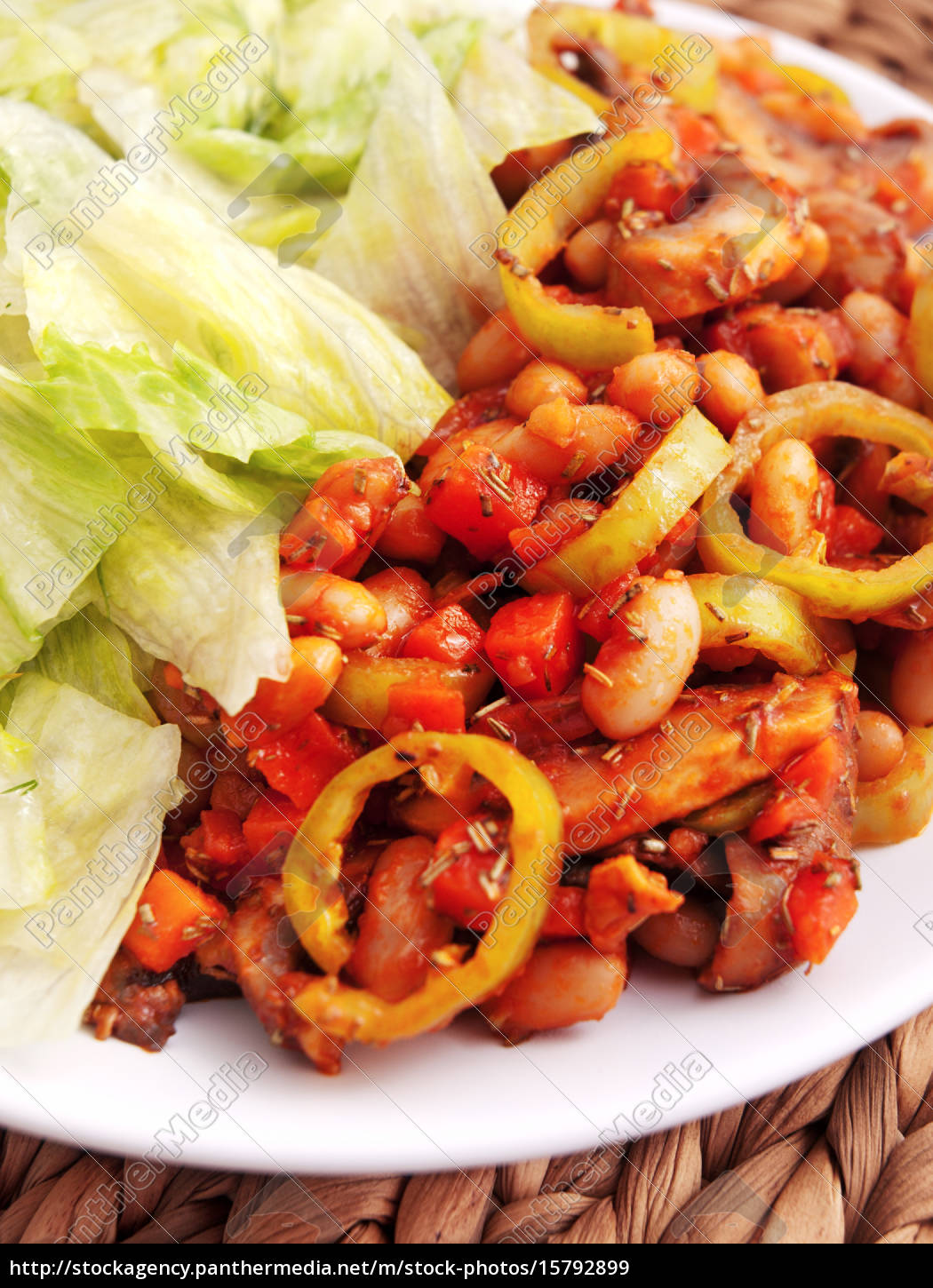 fried, beans, with, carrots, and, mushrooms, fried - 15792899