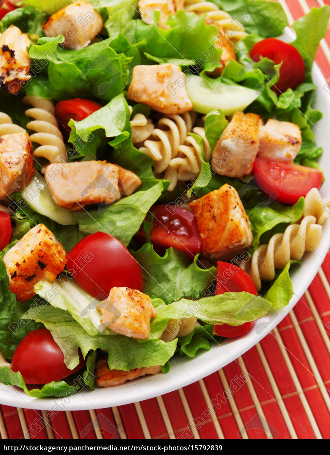 salad, with, salmon, , cherry, tomatos, and - 15792839