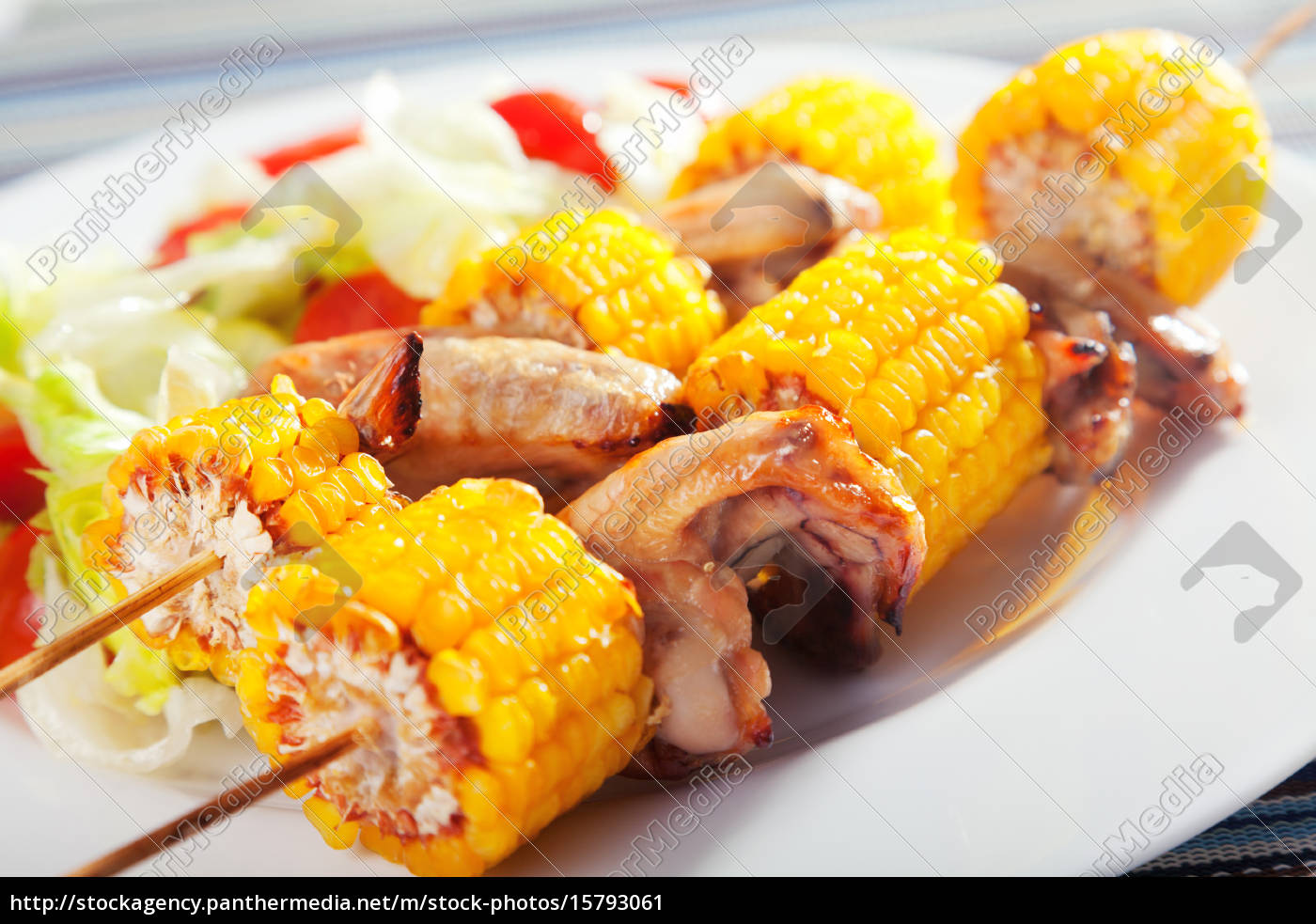 chicken, wings, with, corn, skewers, chicken, wings - 15793061