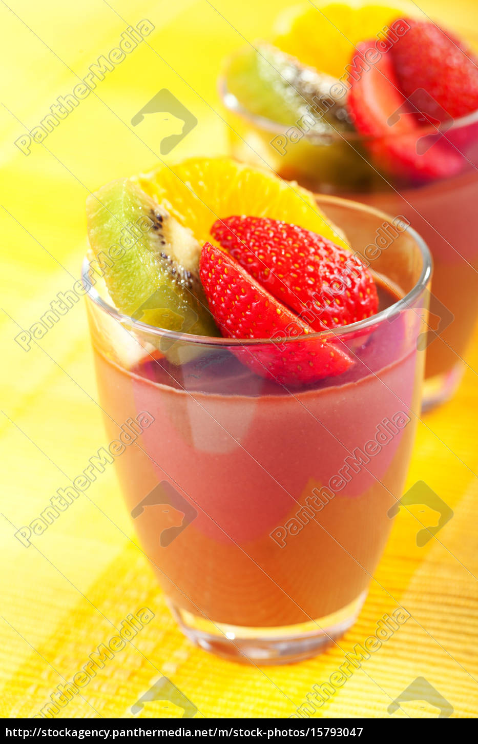 homemade, chocolate, mousse, with, fruits, homemade, chocolate - 15793047