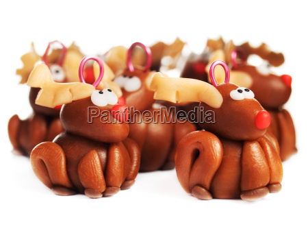polymer clay reindeers christmas decoration polymer