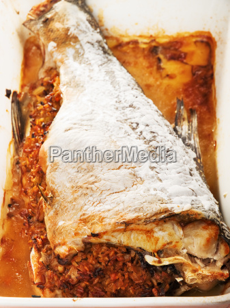 baked, stuffed, carp, baked, stuffed, carp, baked, stuffed - 15794945