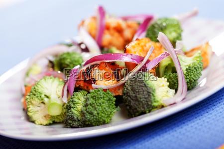 broccoli, and, chicken, salad, broccoli, and, chicken - 15794559