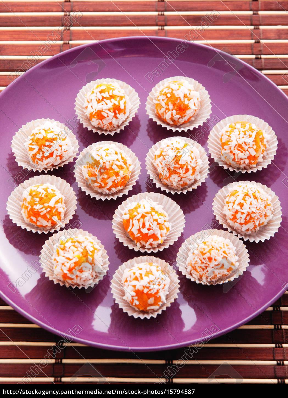 homemade, carrot, candies, homemade, carrot, candies - 15794587