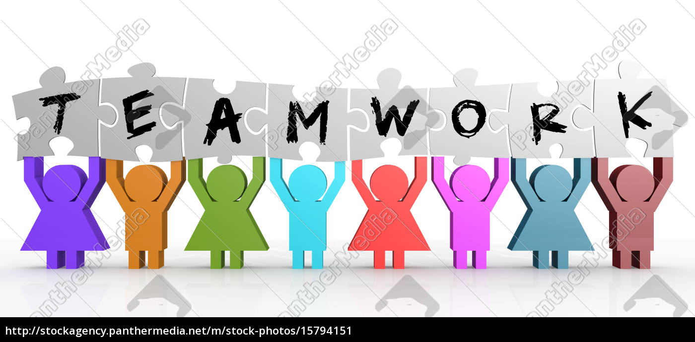 puppet, hold, puzzle, with, teamwork, word - 15794151
