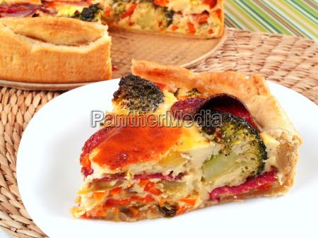 quiche, with, broccoli, and, ham, quiche, with - 15794715