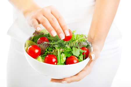 salad, bowl, in, woman, hands, salad, bowl - 15794789