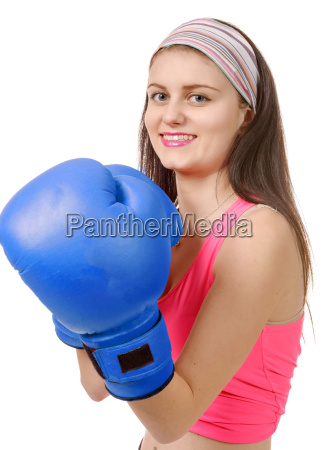 fitness, woman, with, the, blue, boxing - 15795785