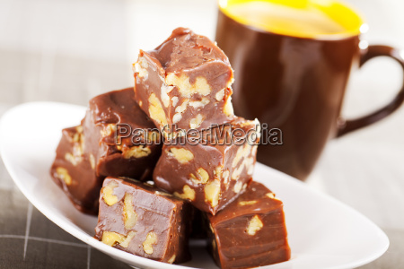 homemade, chocolate, with, walnuts, homemade, chocolate, with - 15795189