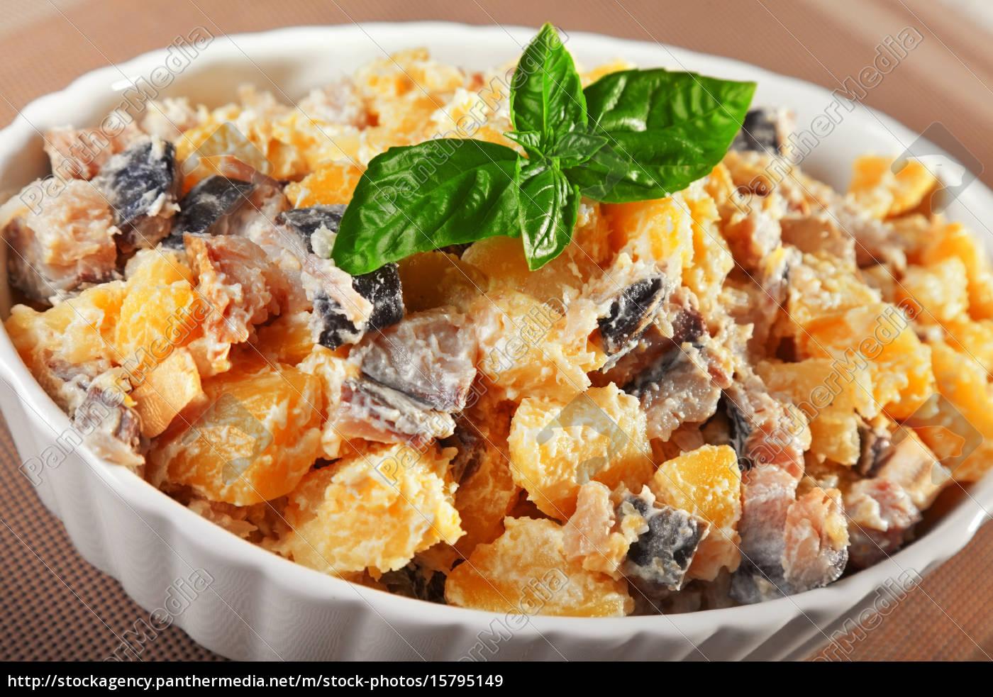 potato, salad, with, marinated, fish, potato, salad - 15795149