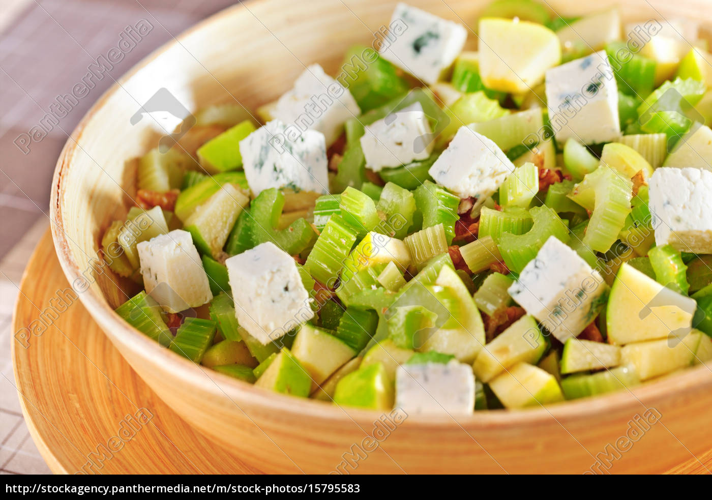 salad, with, celery, , apple, and, blue - 15795583