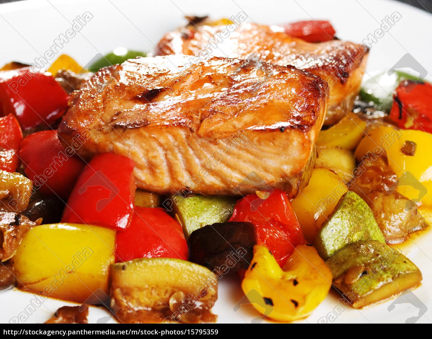 teriyaki, salmon, teriyaki, salmon, teriyaki, salmon, teriyaki, salmon - 15795359
