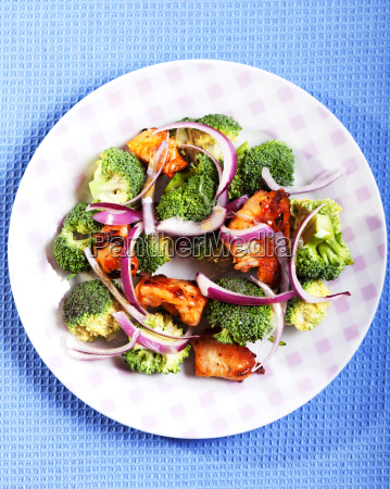 broccoli, and, chicken, salad, broccoli, and, chicken - 15796203
