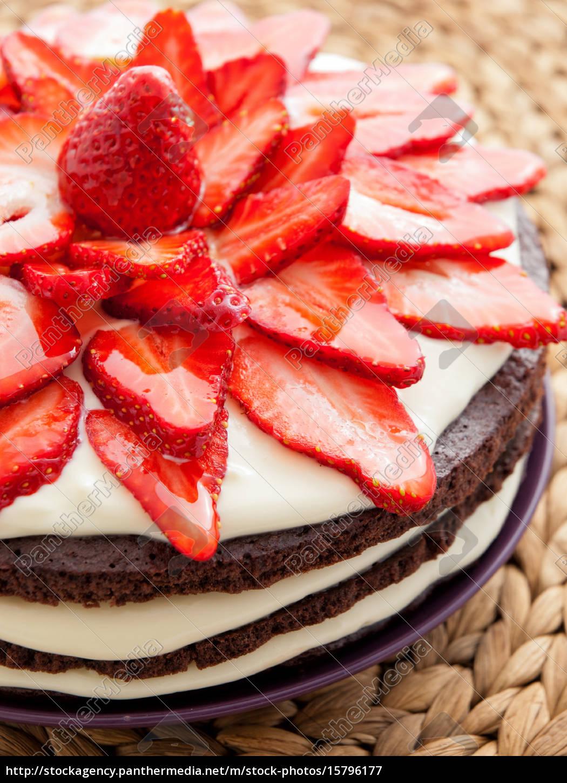 chocolate, cake, with, strawberries, chocolate, cake, with - 15796177
