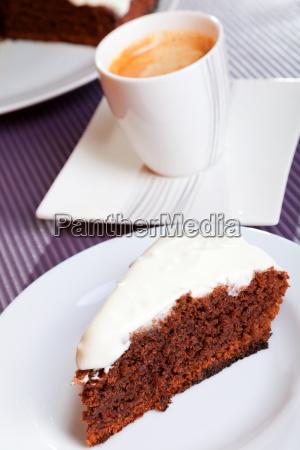 chocolate, cake, with, white, cream, chocolate, cake - 15796169