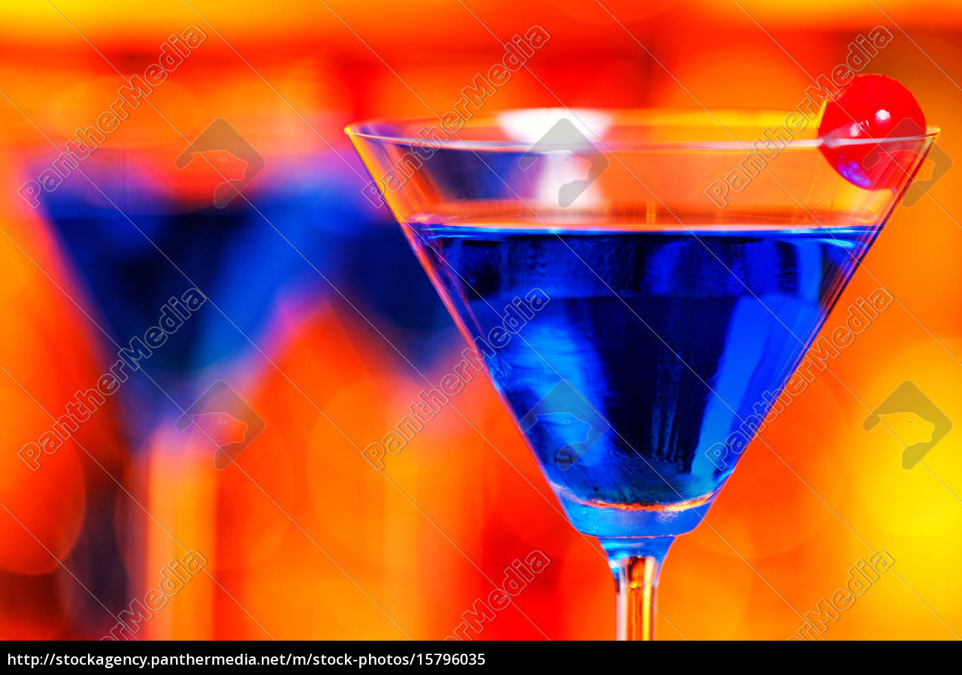 cocktails, collection, -, blue, martini, cocktails, collection - 15796035