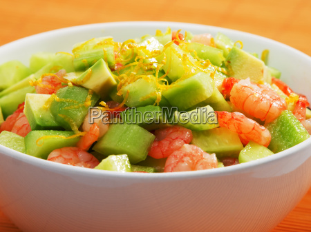 shrimps, salad, with, avocado, and, cucumbers, shrimps - 15796373