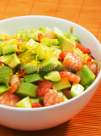 shrimps, salad, with, avocado, and, cucumbers, shrimps - 15796377
