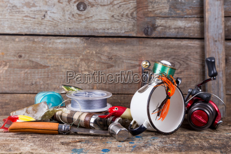 fishing, tackles, , baits, , line, with, flask, - 15797123