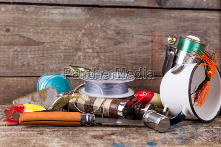 fishing, tackles, , baits, , line, with, flask, - 15797125