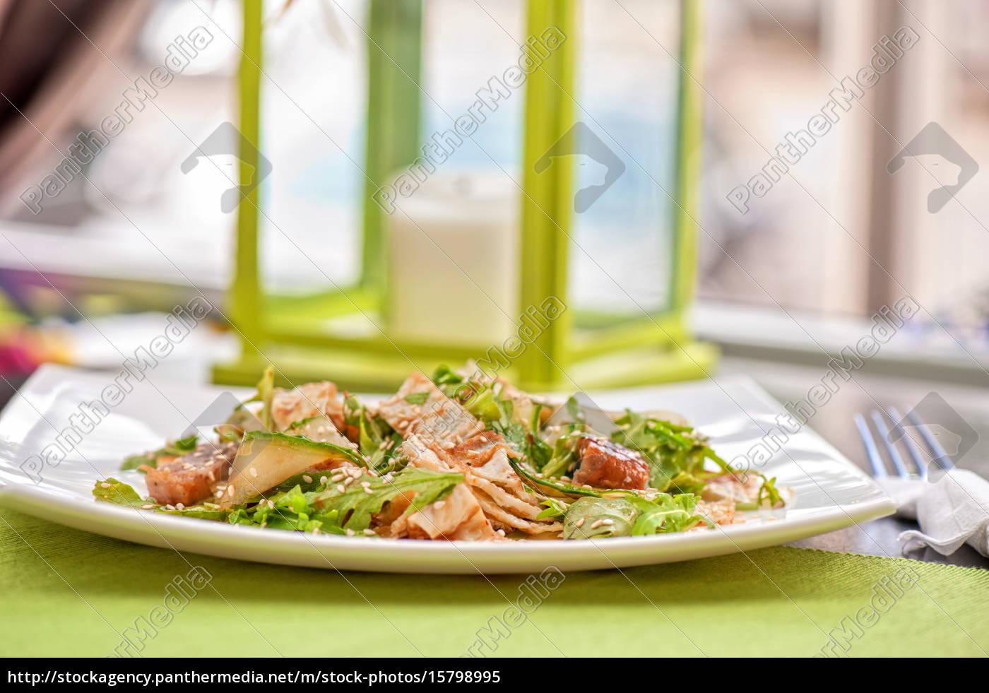 salad, with, smoked, eel - 15798995