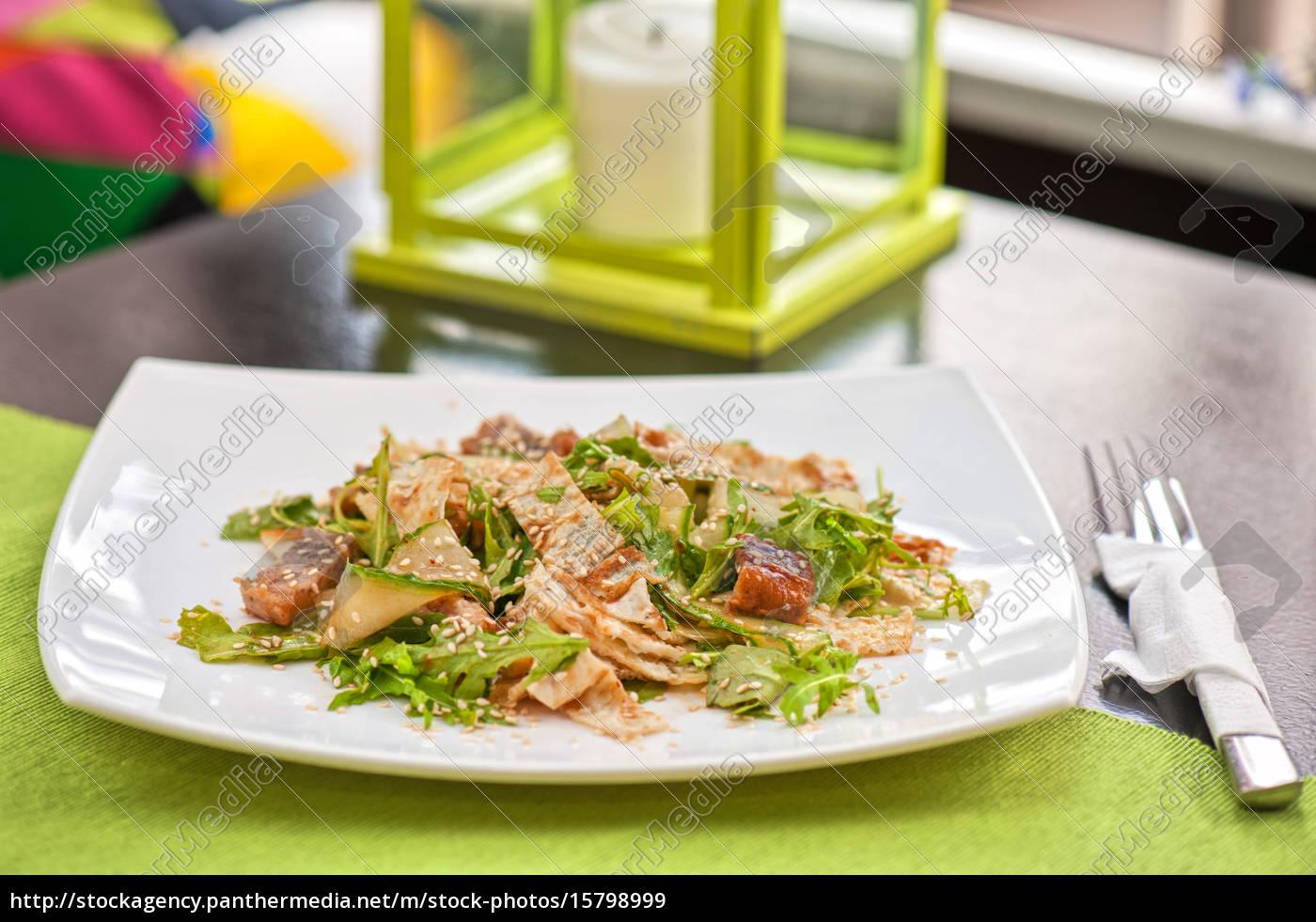 salad, with, smoked, eel - 15798999