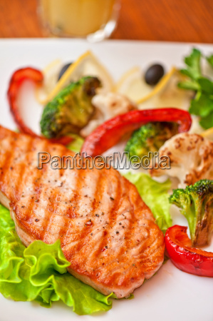 salmon, steak, closeup - 15798927