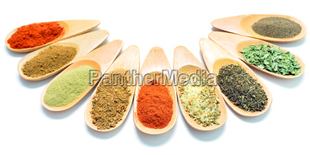wooden spice spoons