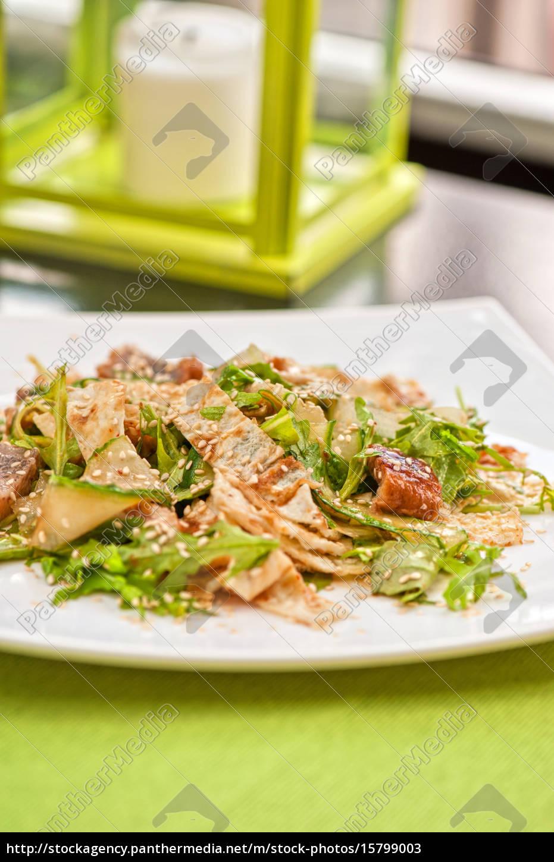 salad, with, smoked, eel - 15799003