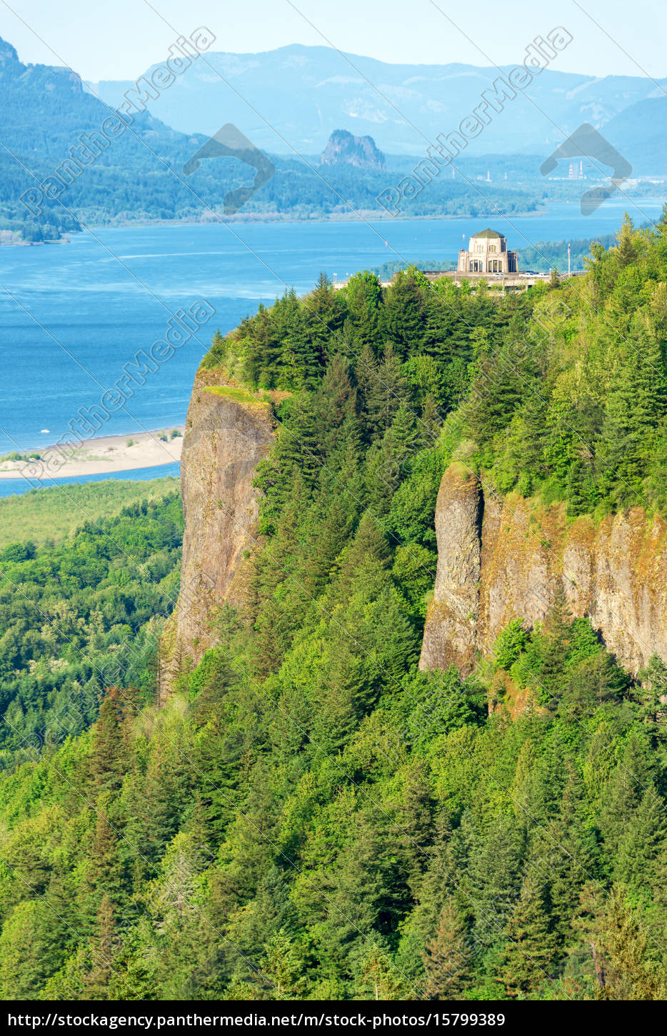 vista, house, and, columbia, river, gorge - 15799389