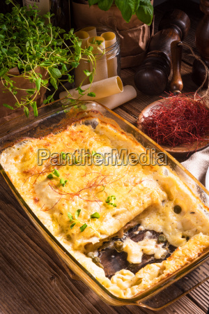 cannelloni, with, mince, filling, and, capers - 15800467