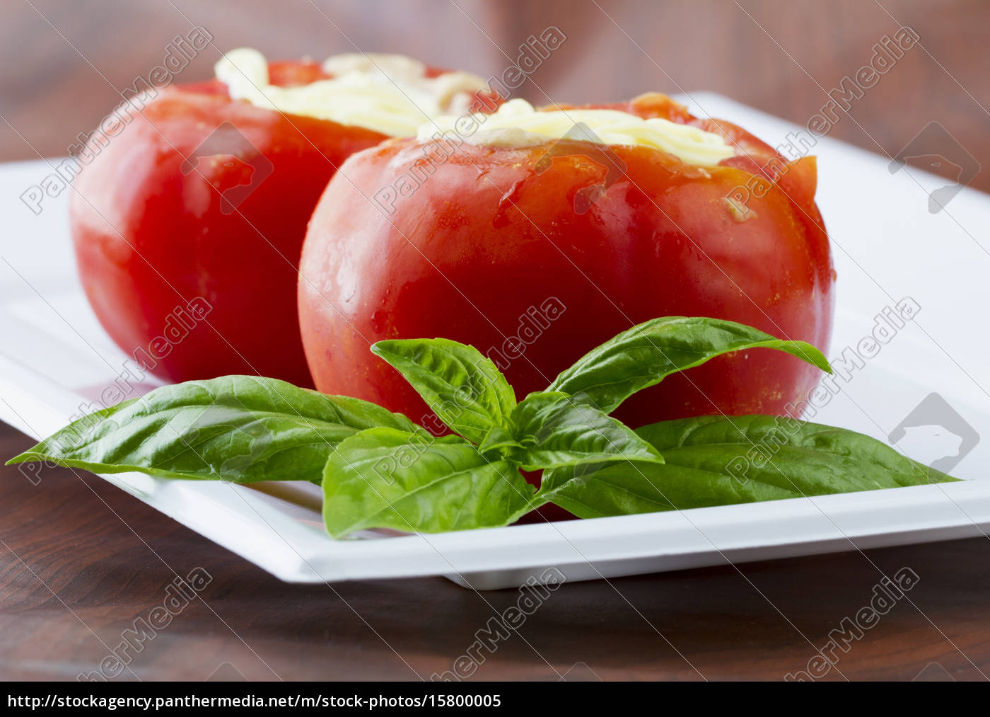 stuffed, tomatos, over, plate - 15800005