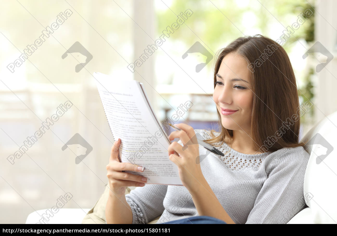 student, studying, and, learning, reading, notes - 15801181