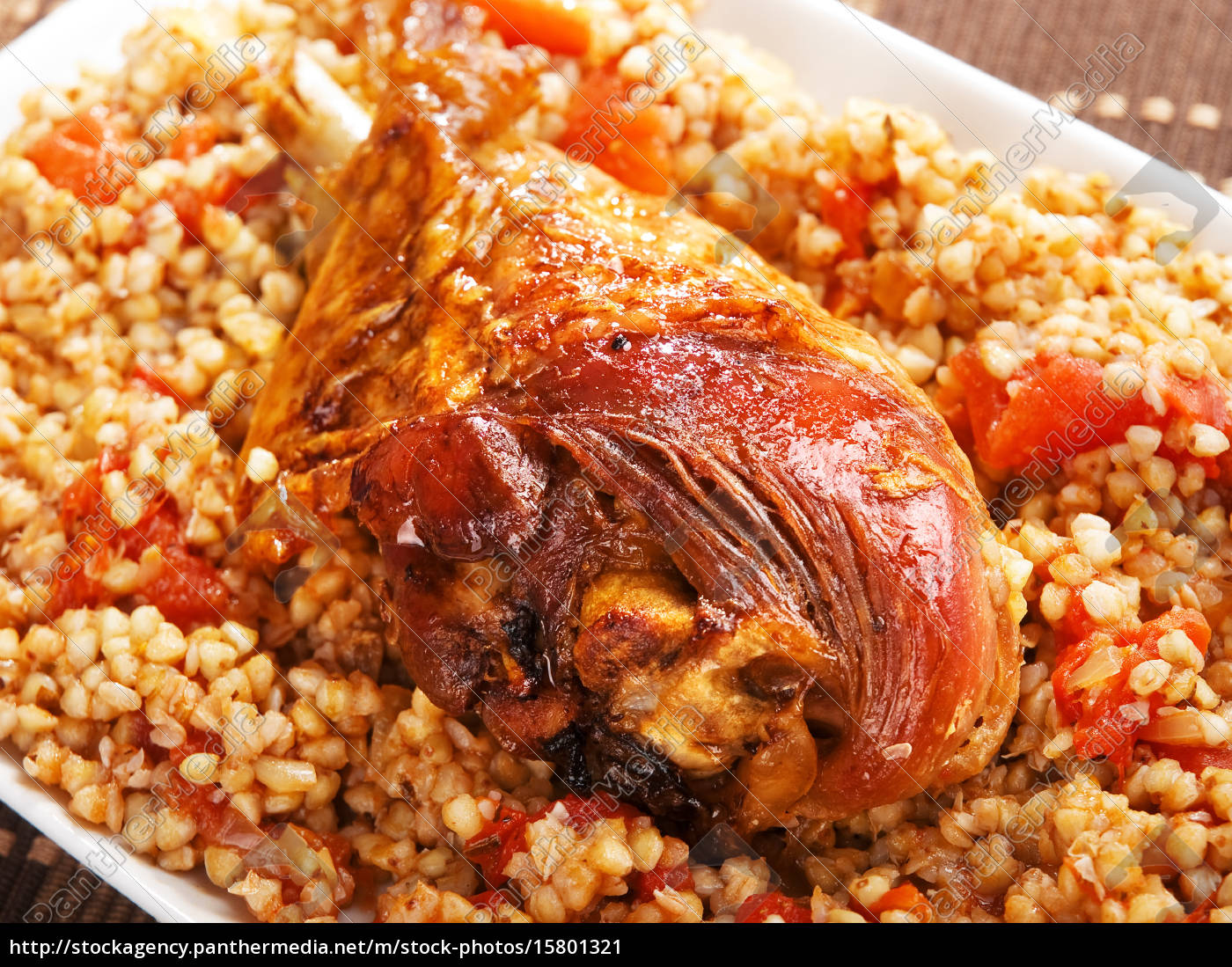turkey, with, buckwheat - 15801321