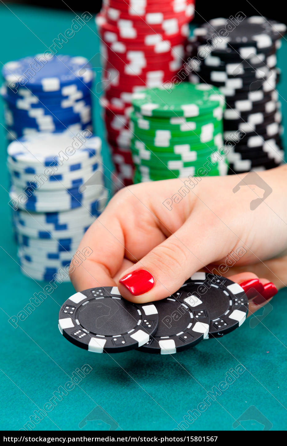young, woman, with, gambling, chips, young, woman - 15801567