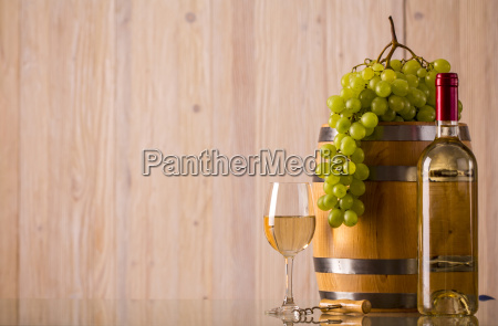 bottle of wine with light background