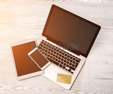 laptop in high definition with tablet